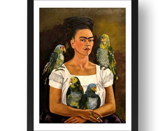 Frida Kahlo with Parrot Mousepad
