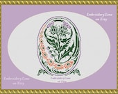 Thistle wildflower and daisy in flower vintage arrangements counted cross stitch Pattern PDF xstitch, scotland thistle bouquet crossstitch