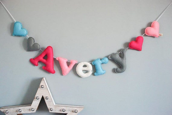 Make Your Own Personalised Wooden Bunting Blank BUNTING WITH LETTER CUT OUT NAME