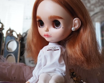 SALE! Custom Takara fashion blythe doll Jessica #14 with Gucci clothes (Bling Bling party fur Limited edition)