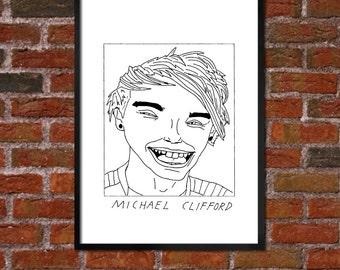 Badly Drawn Michael Clifford - 5SOS - Poster / print / artwork - FREE Worldwide Shipping