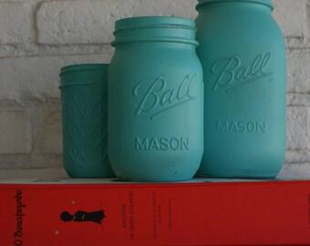 Hand Painted Ball Mason Jar // Wedding Centerpieces // Bridal Shower // Wedding Decor // Teachers Gift //  Home Decor // Unique Gift Ideas