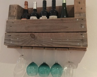 Rustic Handcrafted Wooden Wine Rack // Wine Storage // Rack for Wine // Bespoke // Interesting Gift // Unusual Gift Ideas // Mothers Day