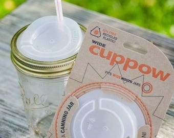 CupPow Lid for Wide Mouth and Regular Mouth Jars // Mason Jar Accessories // Drinks // Fitness // Gift Ideas // Sports // Healthy Living
