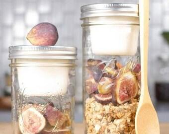 BNTO Canning Jar Lunchbox Adaptor // Wide Mouth // Food Storage // Mason Jar // Healthy Living // Gift Ideas // Mason Jar Accessories