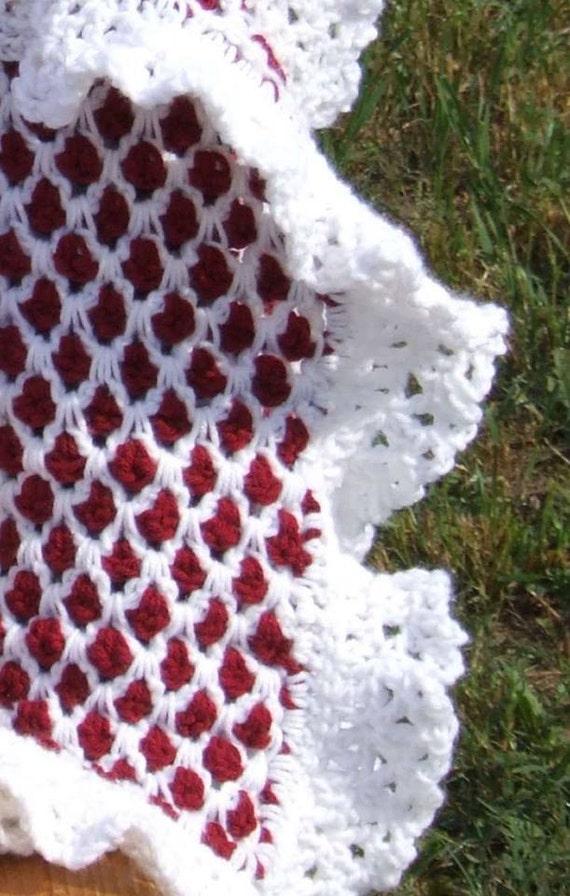 Raspberry Trellis Baby Afghan Lap Blanket Mens Afghan Etsy