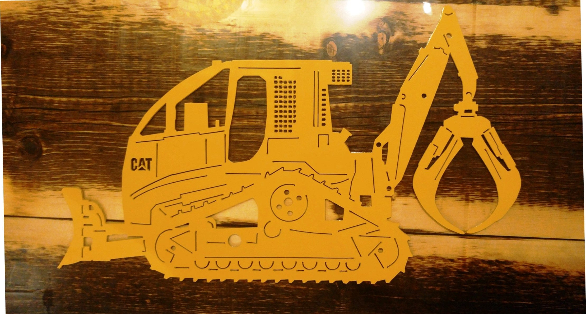 Custom Metal CAT Swing Grapple Tracked Skidder Can be | Etsy