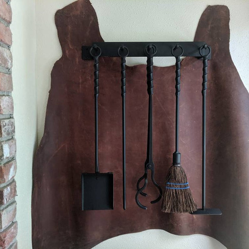 Blacksmith Twist Fireplace Shovel With Looped Ring Handle