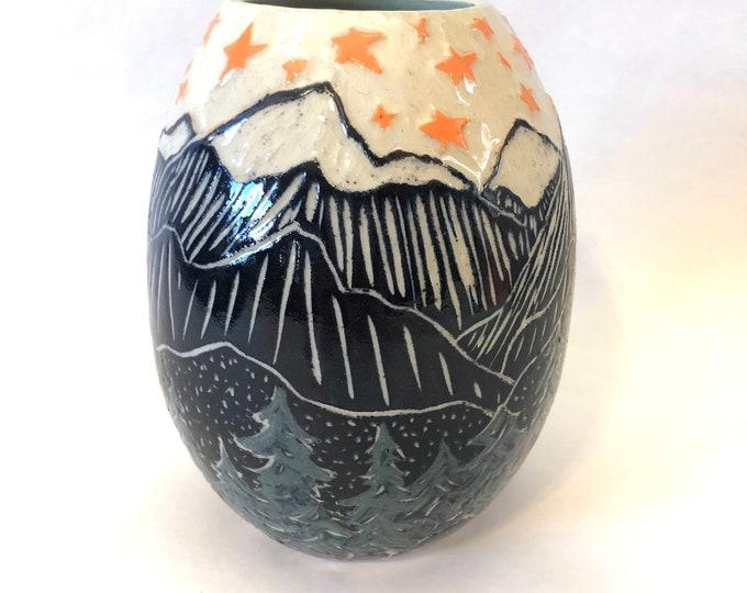 Starry Mountains Vase