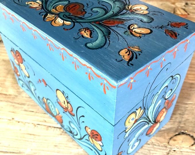 Telemark Rosemaling Recipe Box