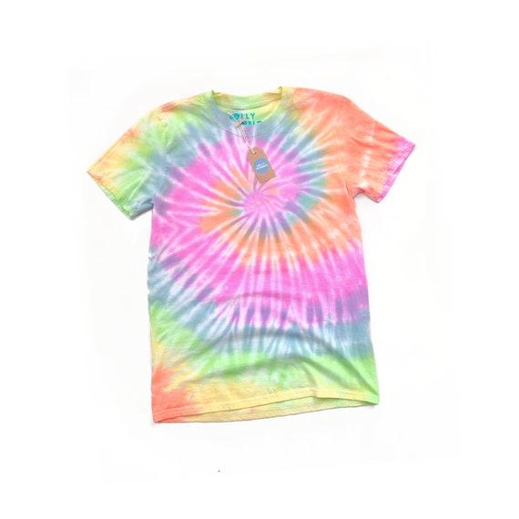 Tie dye pastel rainbow tees