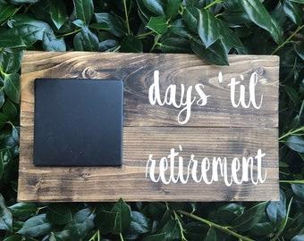 picture regarding Retirement Countdown Calendar Printable named Retirement countdown Etsy