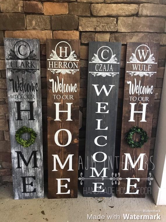 Porch Sign Welcome Sign Personalized Welcome Sign Porch Etsy