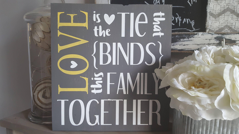 Familie Zeichen Liebe Ist Das Band Das Verbindet Familie Etsy