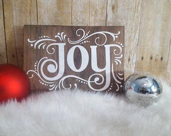 christmas sign, joy christmas sign, joy sign, christmas joy, holiday sign, christmas decor, rustic christmas sign, pallet christmas sign