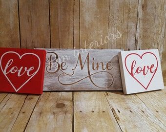 Valentine's Day Sign, Valentine's Day Gift, Love sign, be mine, heart sign, wedding sign
