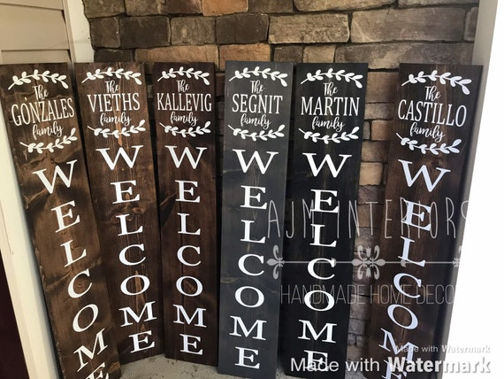 Welcome Sign For Front Porch Welcome Sign Personalized Etsy