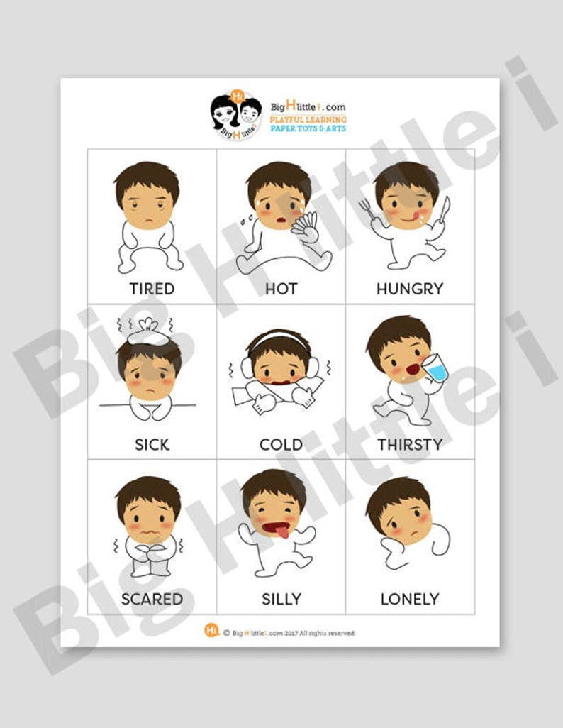image regarding Emotion Flashcards Printable known as Inner thoughts Flashcards, Printable, Preschool Clroom Flash Playing cards