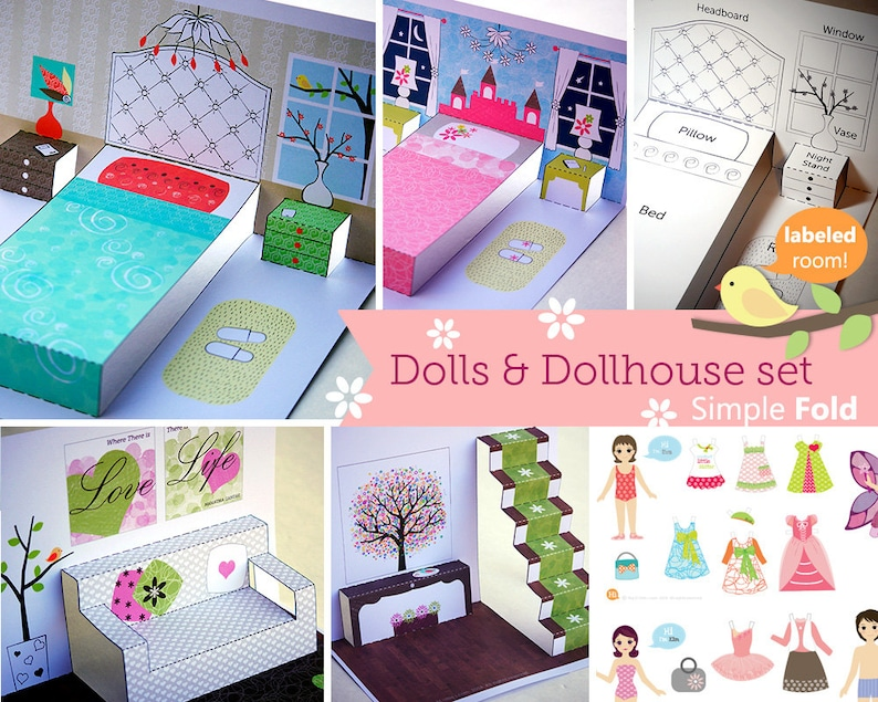 picture about Dollhouse Windows Printable identify Printable Paper Dollhouse and Dolls / Transportable toys / Discovering Toys / Lady toys / Paper Place / Instantaneous obtain