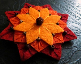 Mandala flower Barrette