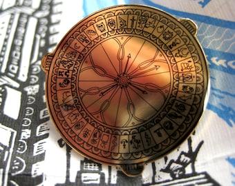 His Dark Materials, Alethiometer/Golden Compass Enamel Pin