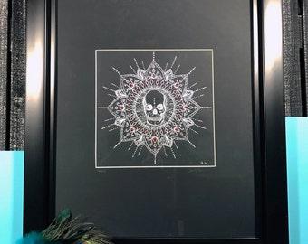 Obilito - skull mandala original artwork