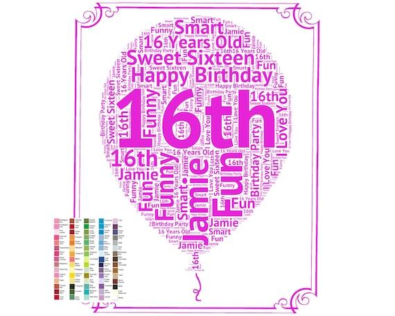 16 Birthday Gift 16th