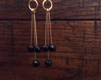 GOLD FILLED EARRINGS With Swarovski Crystal