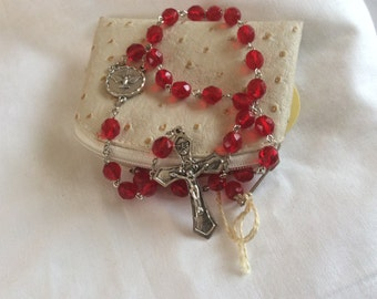 Confirmation Rosary with Zippered Pouch