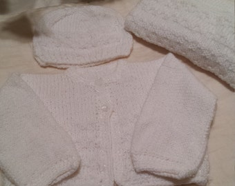 unisex baby sweaters and hat sets