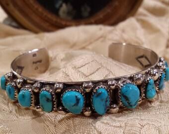 Native American Navajo  turquoise  cuff bracelet