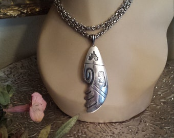 Native American sterling silver pendant