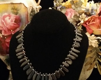 Beautiful! Black Moonstone Necklace