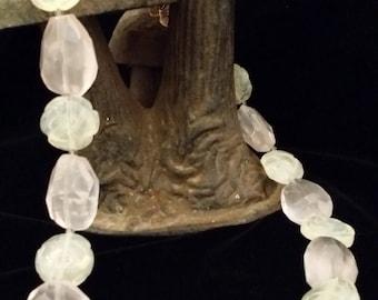 Beautiful opalite and Rose Quartz Necklace