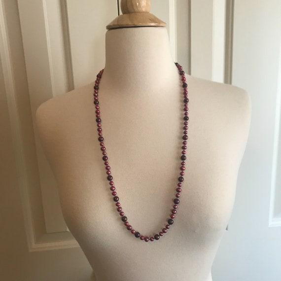 mother pearl necklace, red mother pearl necklace,