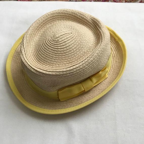 yellow straw hat, straw hat, summer hat, 90s hat,… - image 3
