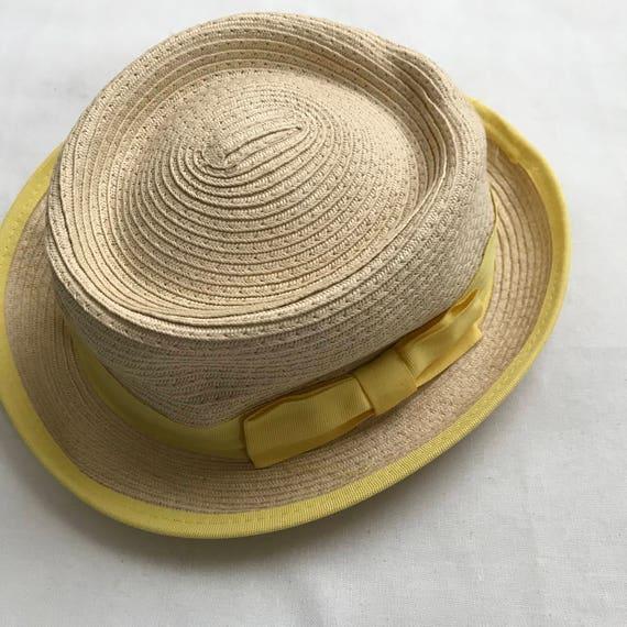 yellow straw hat, straw hat, summer hat, 90s hat,… - image 2