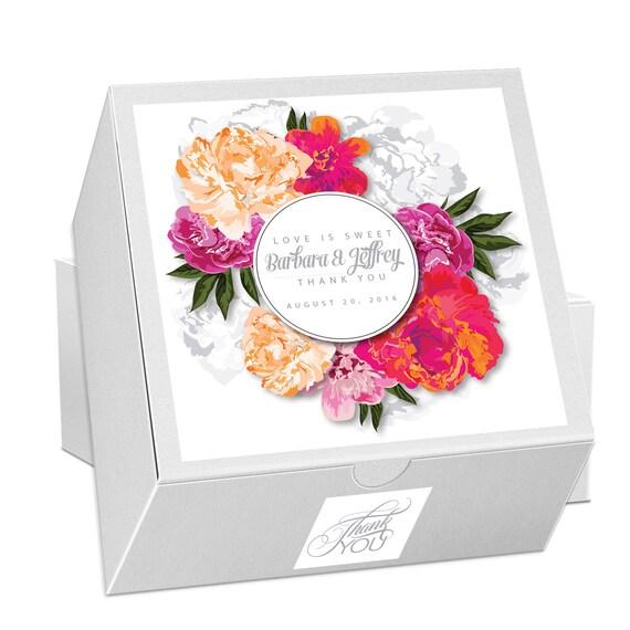 25 Cake Favor Boxes Wedding Favors Wedding Cake Box Cookie Etsy