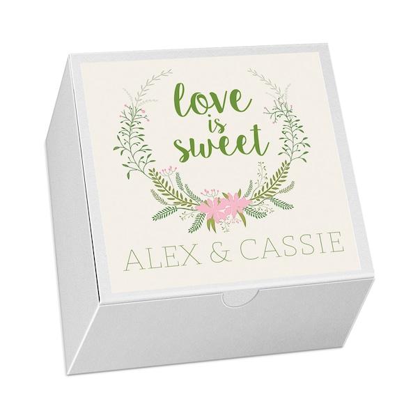 Cake Favor Boxes Wedding Favor Candy Bag Wedding Cake Etsy