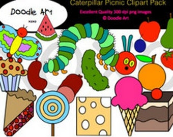 Hungry Caterpillar Clipart Etsy