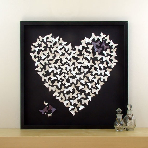 Personalised 3d Butterfly Wall Art Perfect Wedding Gift Idea Etsy