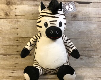 Personalized Baby Cubbie Zebra Cubbie Baby Embroidered Cubbies Stuffed Animal Personalized Stuffed Animal Baptism Gift Birth Announcement