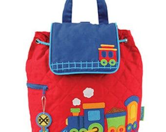 e54348790a Train Quilted Backpack Stephen Joseph Children s Backpack Toddler School  Preschool Cute Train Bag Adorable Train Boy Backpack