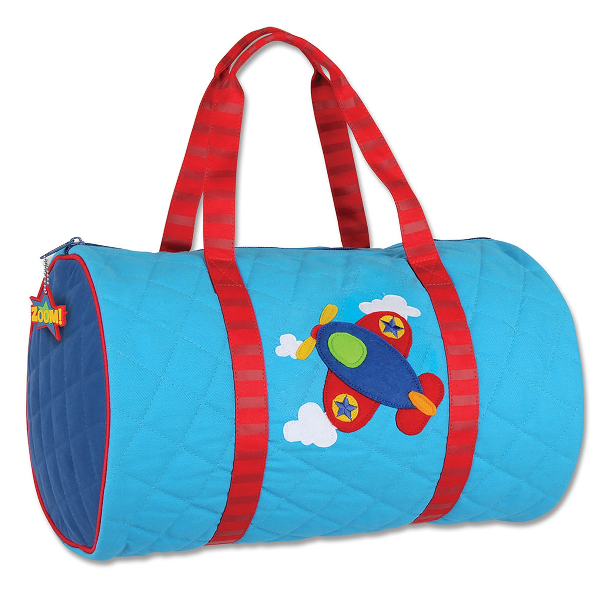 c279039bbd Airplane Quilted Duffle Bag Stephen Joseph Children s Duffle Bag Overnight  Pirate Dance Gymnastics Swim Cute Pirate Applique Bag Boy Girl