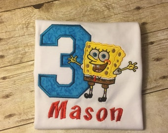 Sponge Bob Birthday T-Shirt