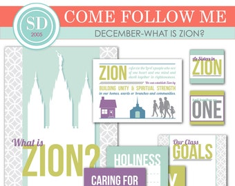 """LDS YW Come Follow Me - December - """"What is Zion?"""" - Printable Lesson Helps - MB"""