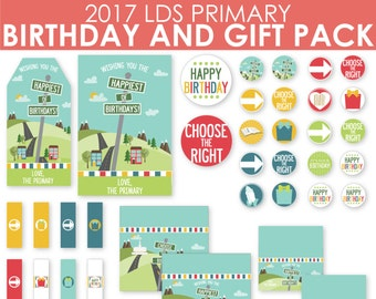 2017 LDS Primary Birthday and Gift kit - Choose the Right - Now On SALE! - MB