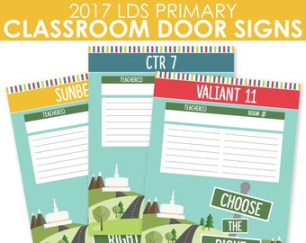 2017 LDS Primary Classroom Door Lists - Choose the Right - MB