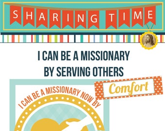 2017 November Week 1 Sharing Time Kit - I can be a missionary now by serving others - MB