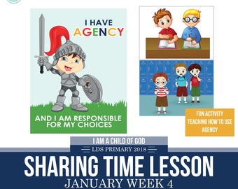 2018 January Week 4 Sharing Time Kit - I have agency and I am responsible for my own choices - MB